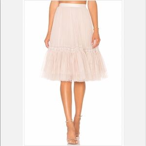 Needle & Thread Lace Tulle Skirt
